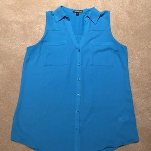 Never Worn! Express sleeveless turquoise top!!
